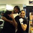 Maydad after training with Lamon Brewster