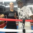 Maydad after training with Teacher Jimmy Williams